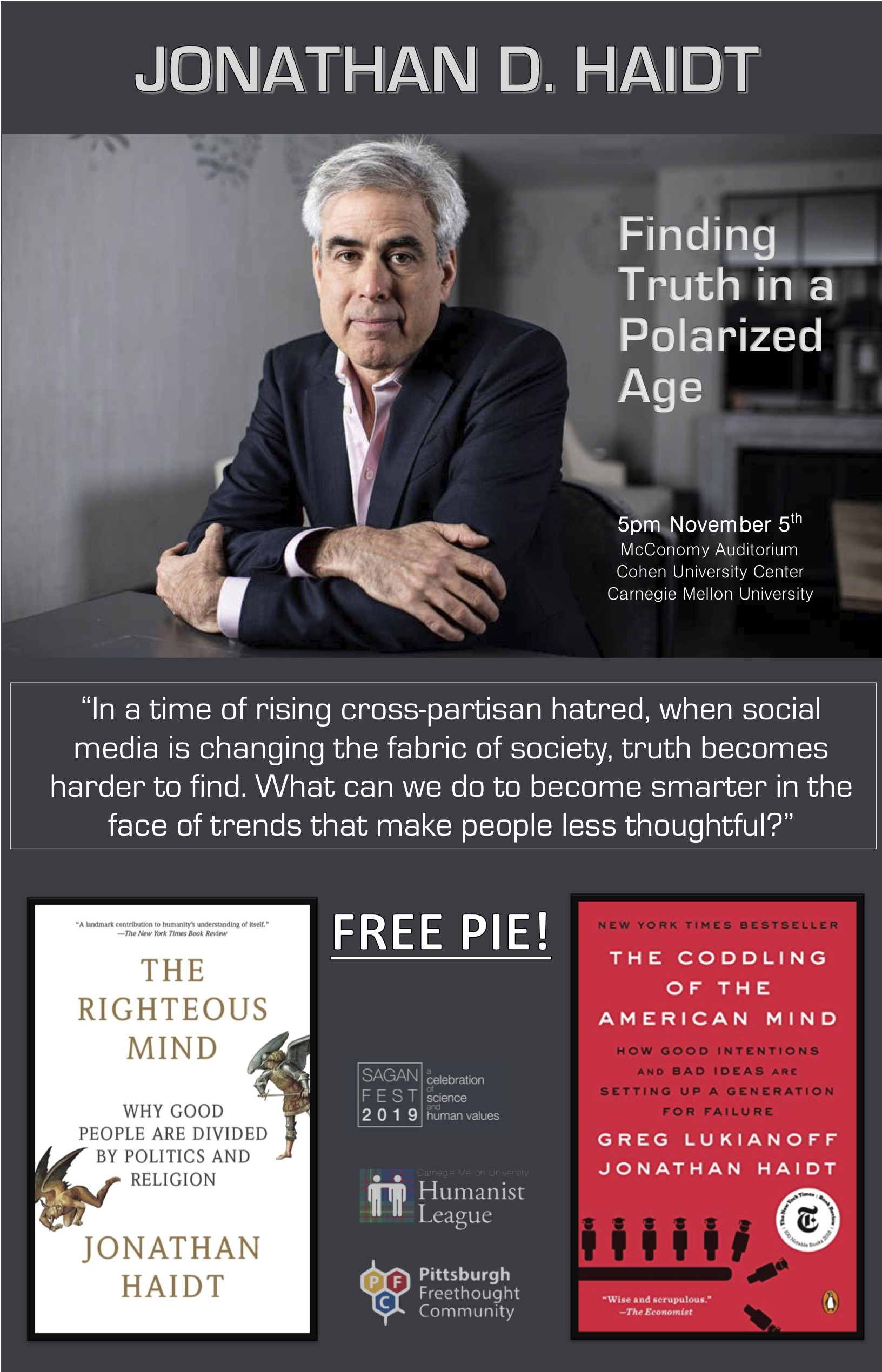 Jonathan D. Haidt – Finding Truth in a Polarized Age Poster
