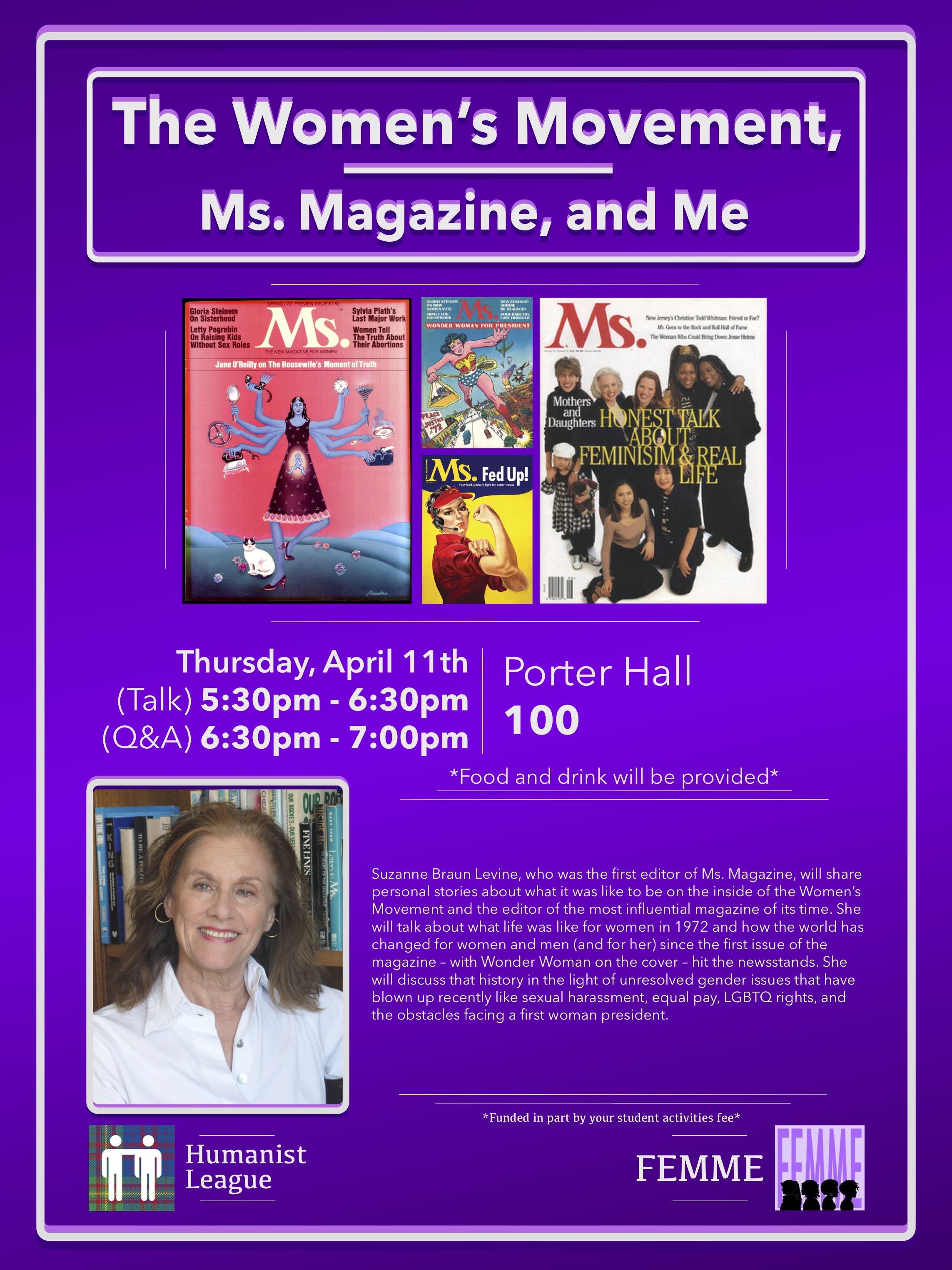 Suzanne Levine – The Women's Movement,Ms. Magazine, and Me Poster