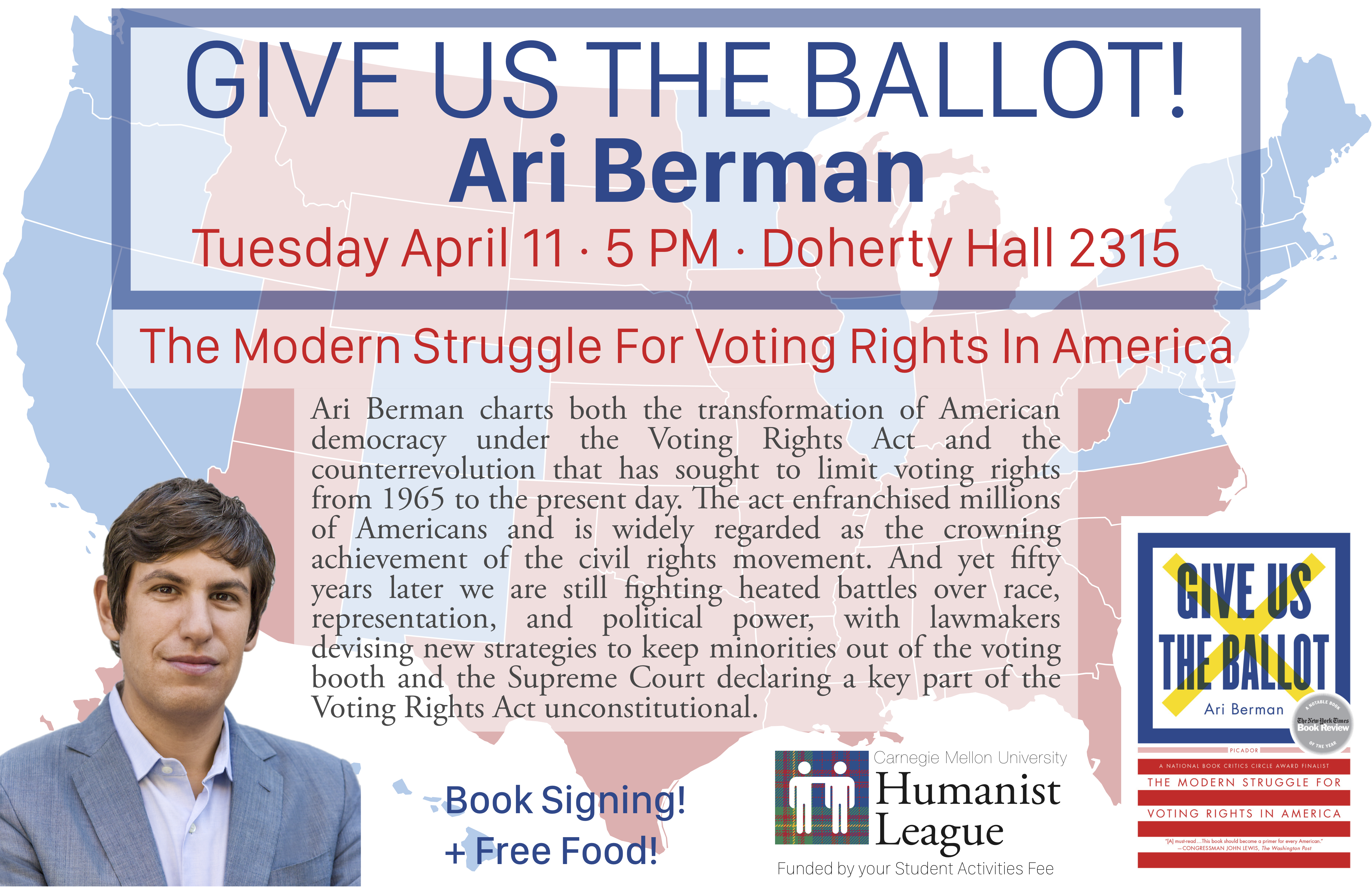 Ari Berman – Give Us The Ballot! Poster