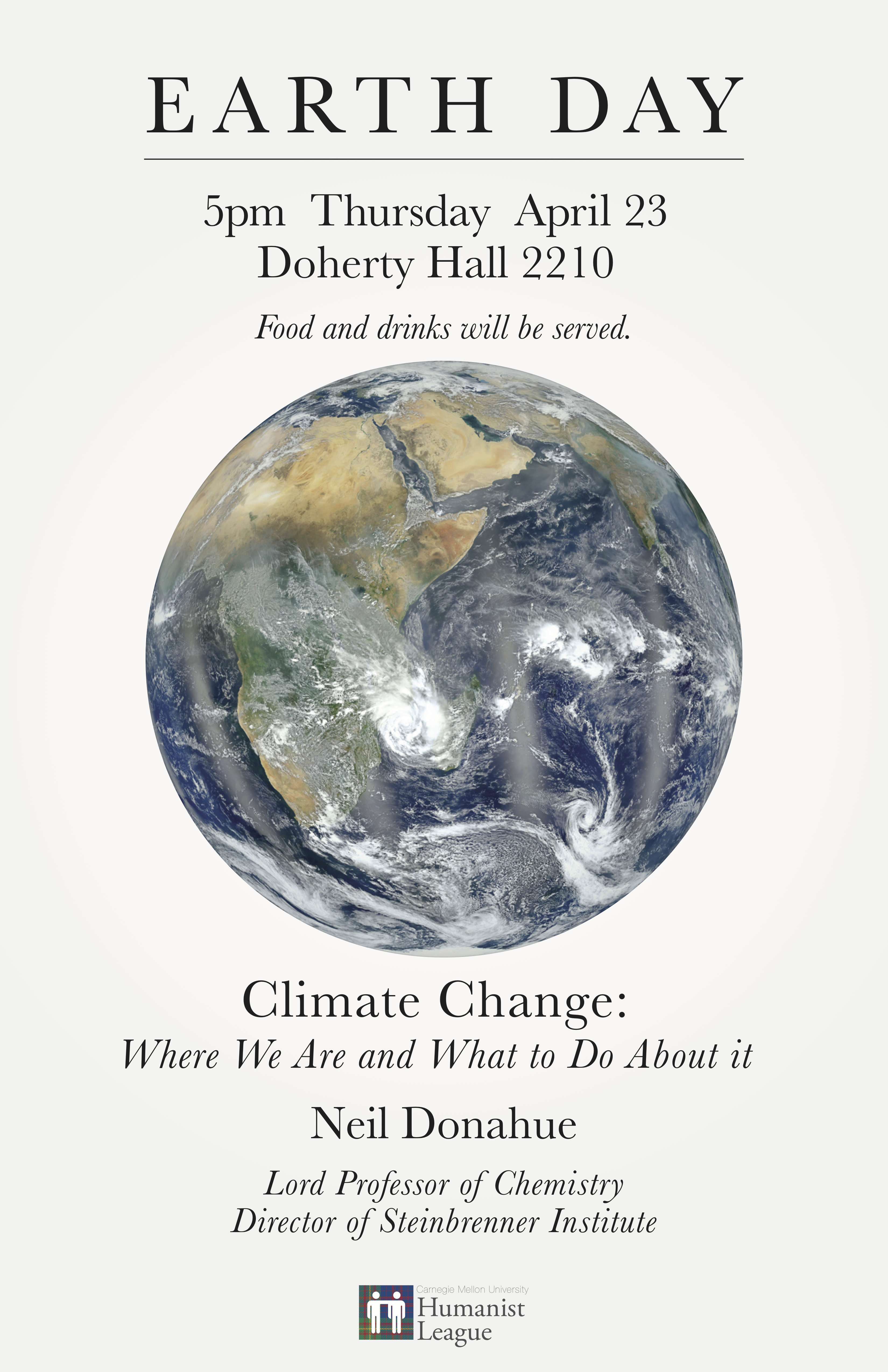 Earth Day! Featuring Prof. Neil Donahue Poster