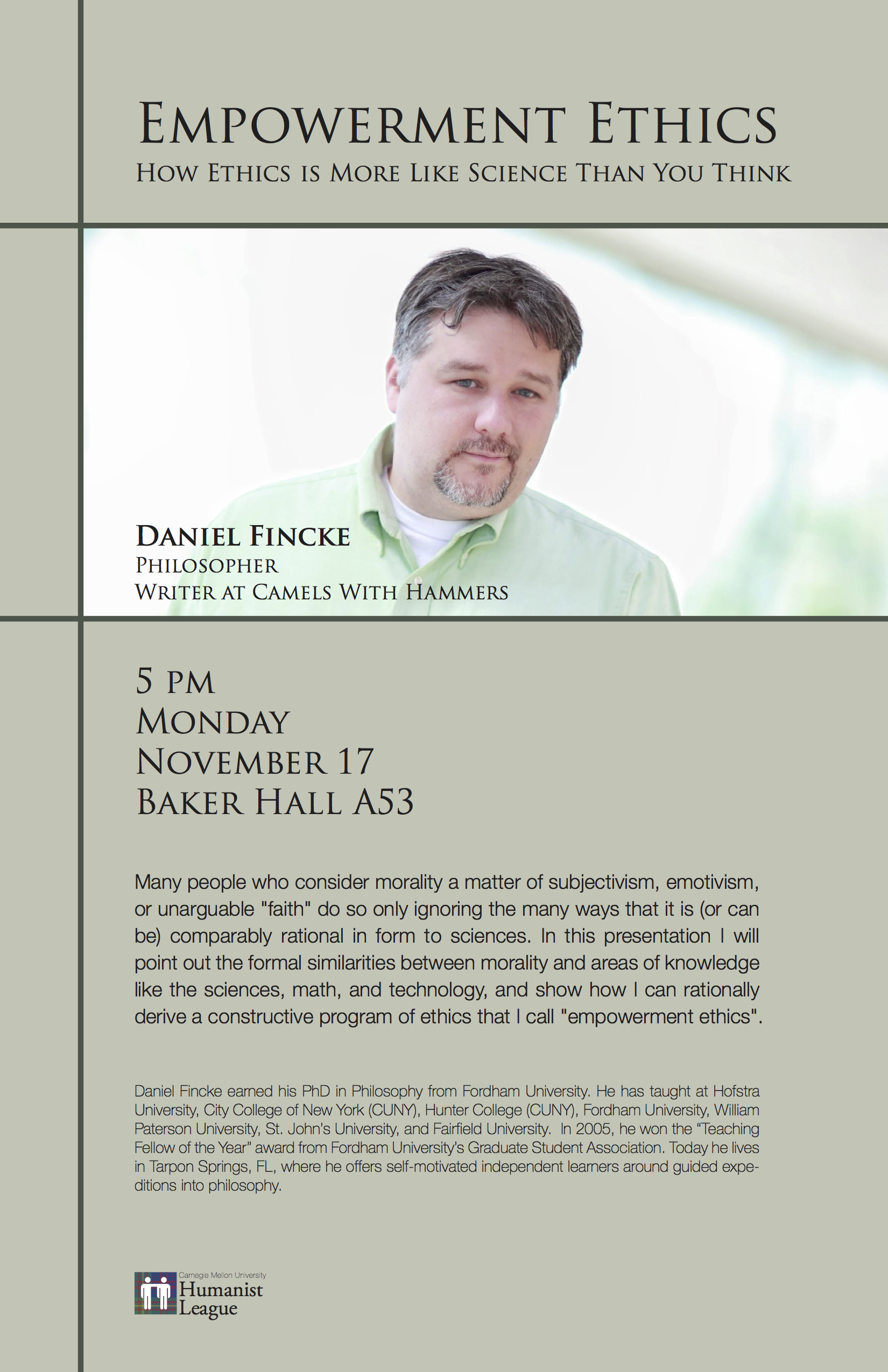 Daniel Fincke – Empowerment Ethics Poster