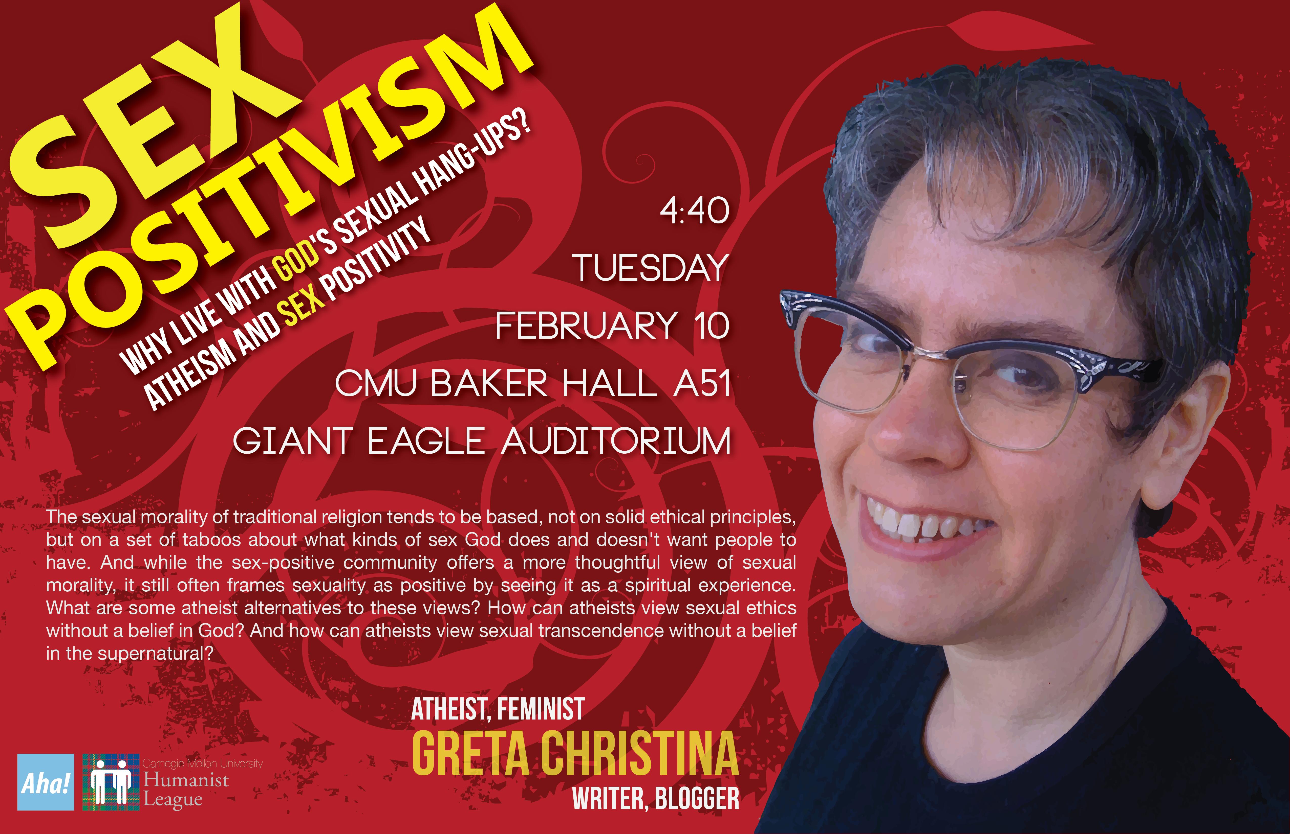 Greta Christina – Sex Positivism Poster