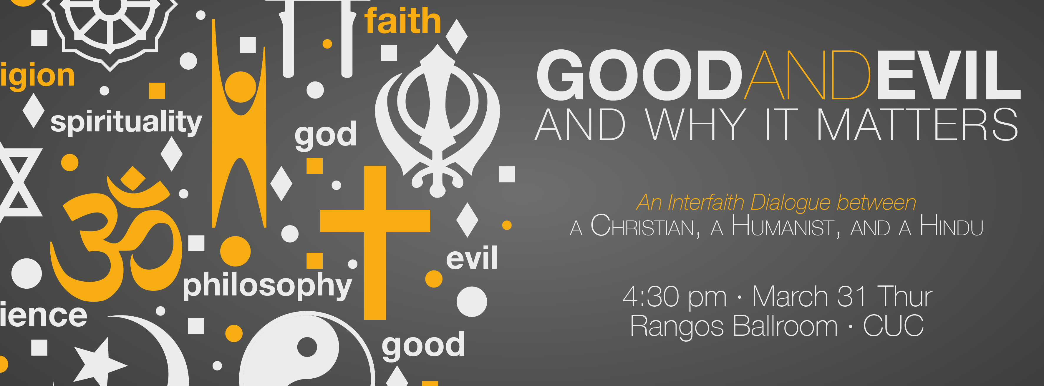 Interfaith Dialogue – Good and Evil Banner