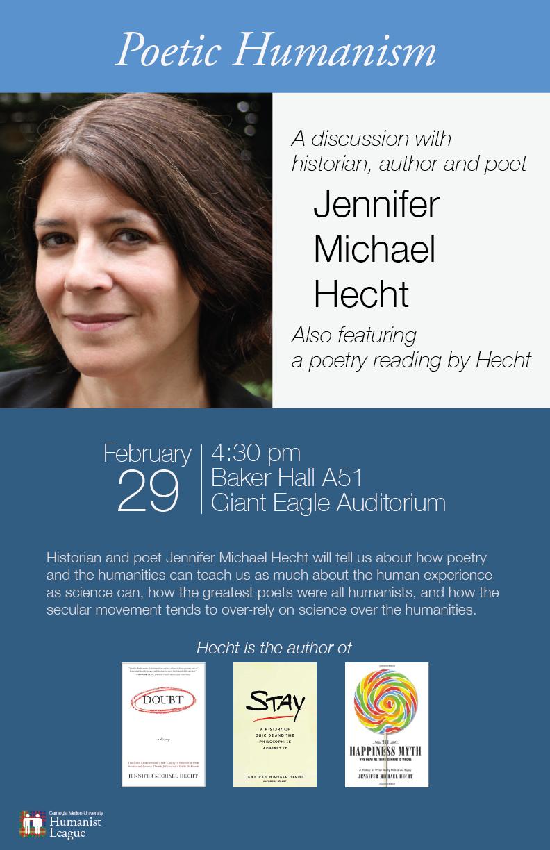 Jennifer Michael Hecht – Poetic Humanism Poster