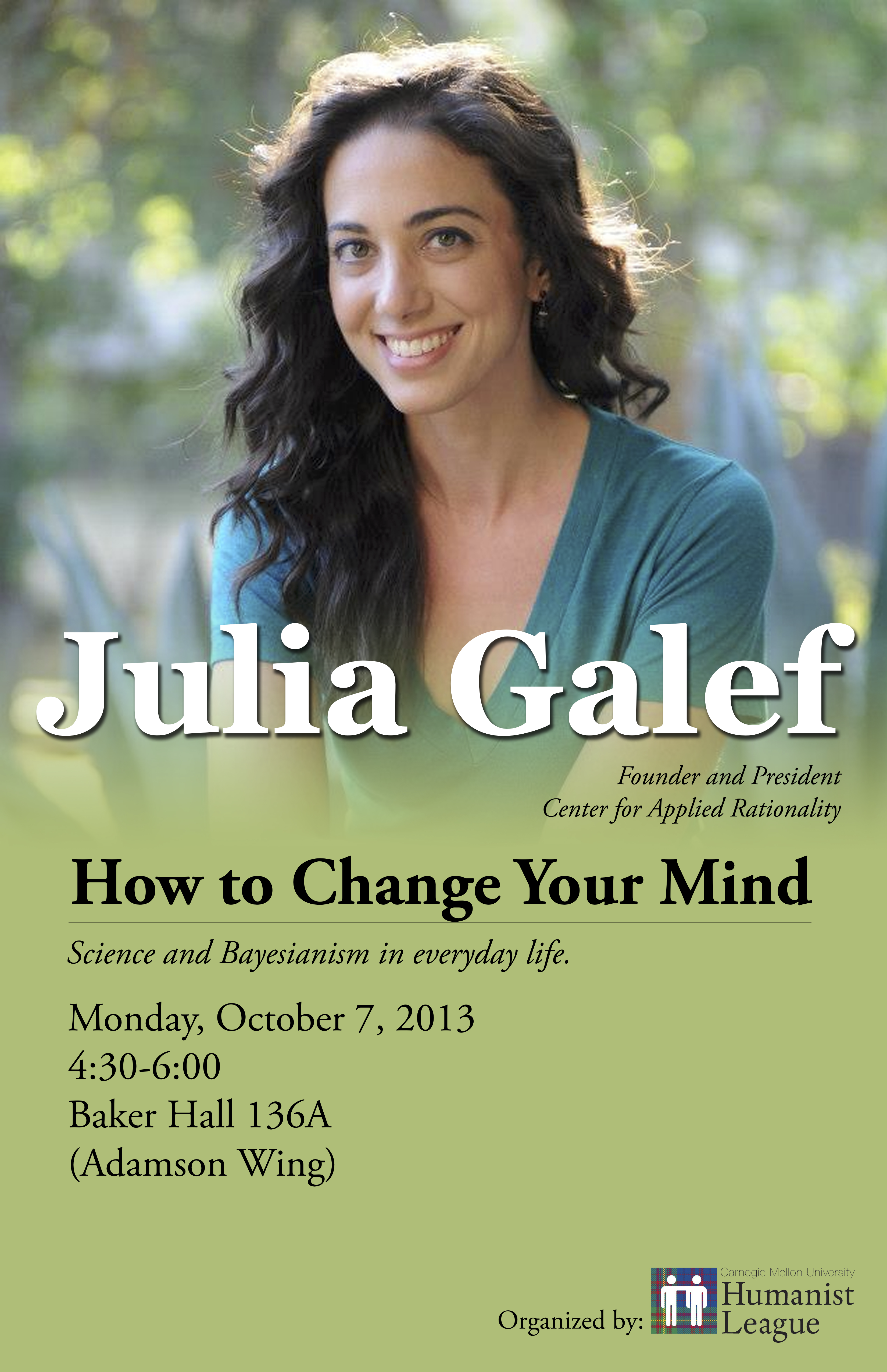 Julia Galef – How to Change Your Mind Poster