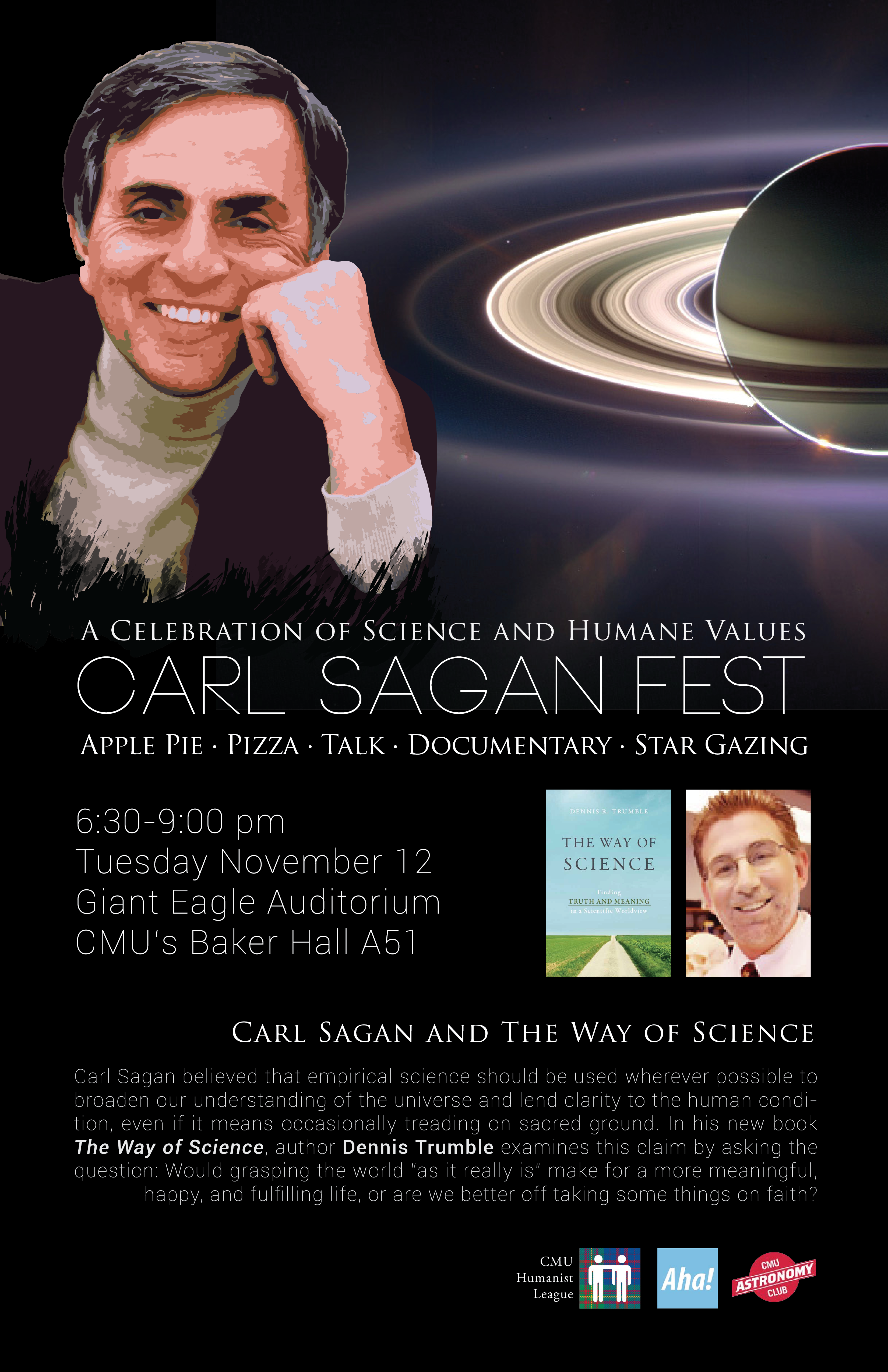 Carl Sagan Fest – Carl Sagan and The Way of Science Poster