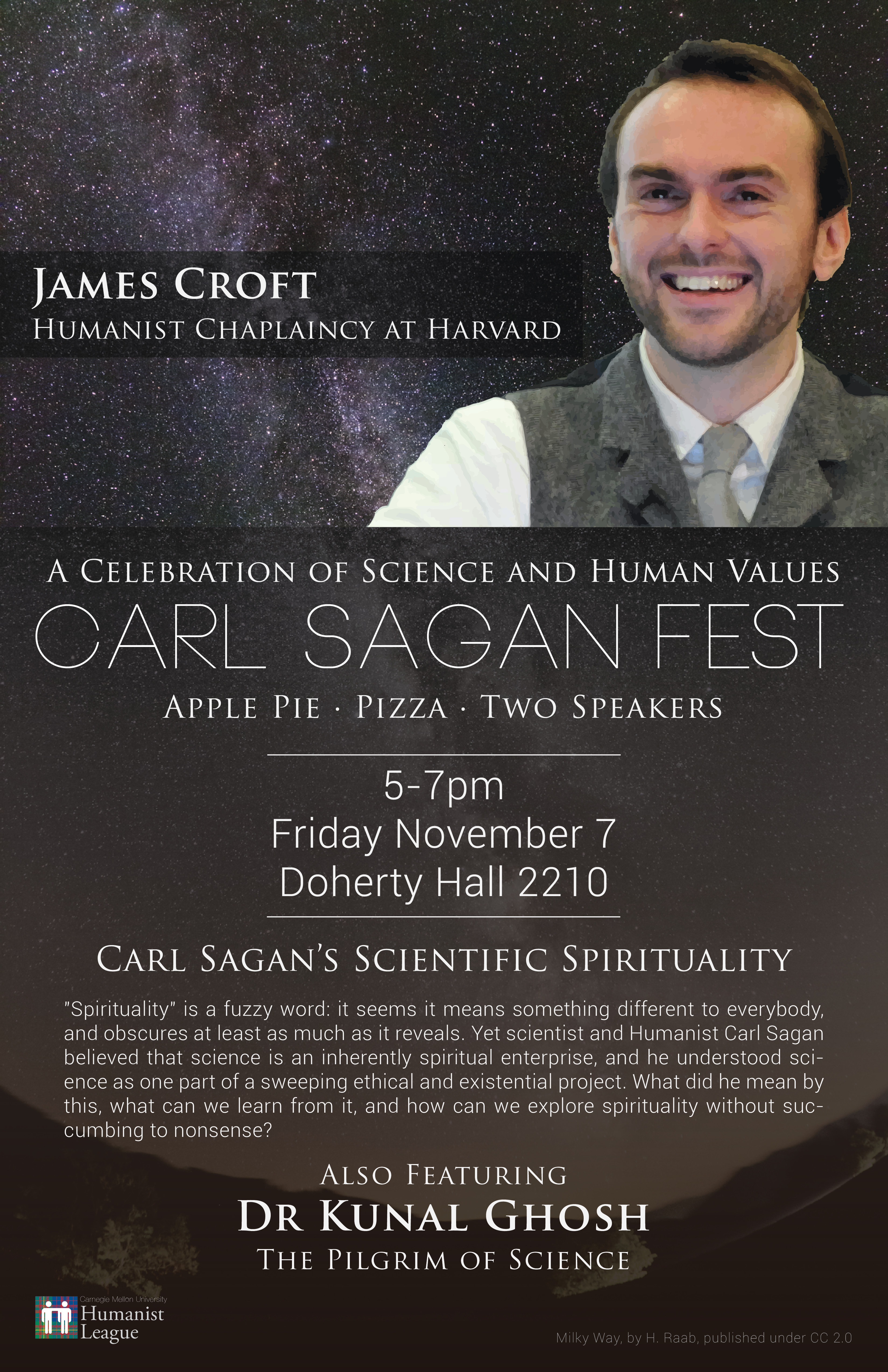 Carl Sagan Fest – A Celebration of Science and Human Values Poster