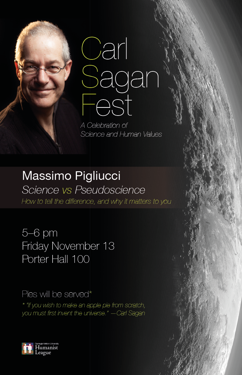 Carl Sagan Fest – Science vs. Pseudoscience Poster