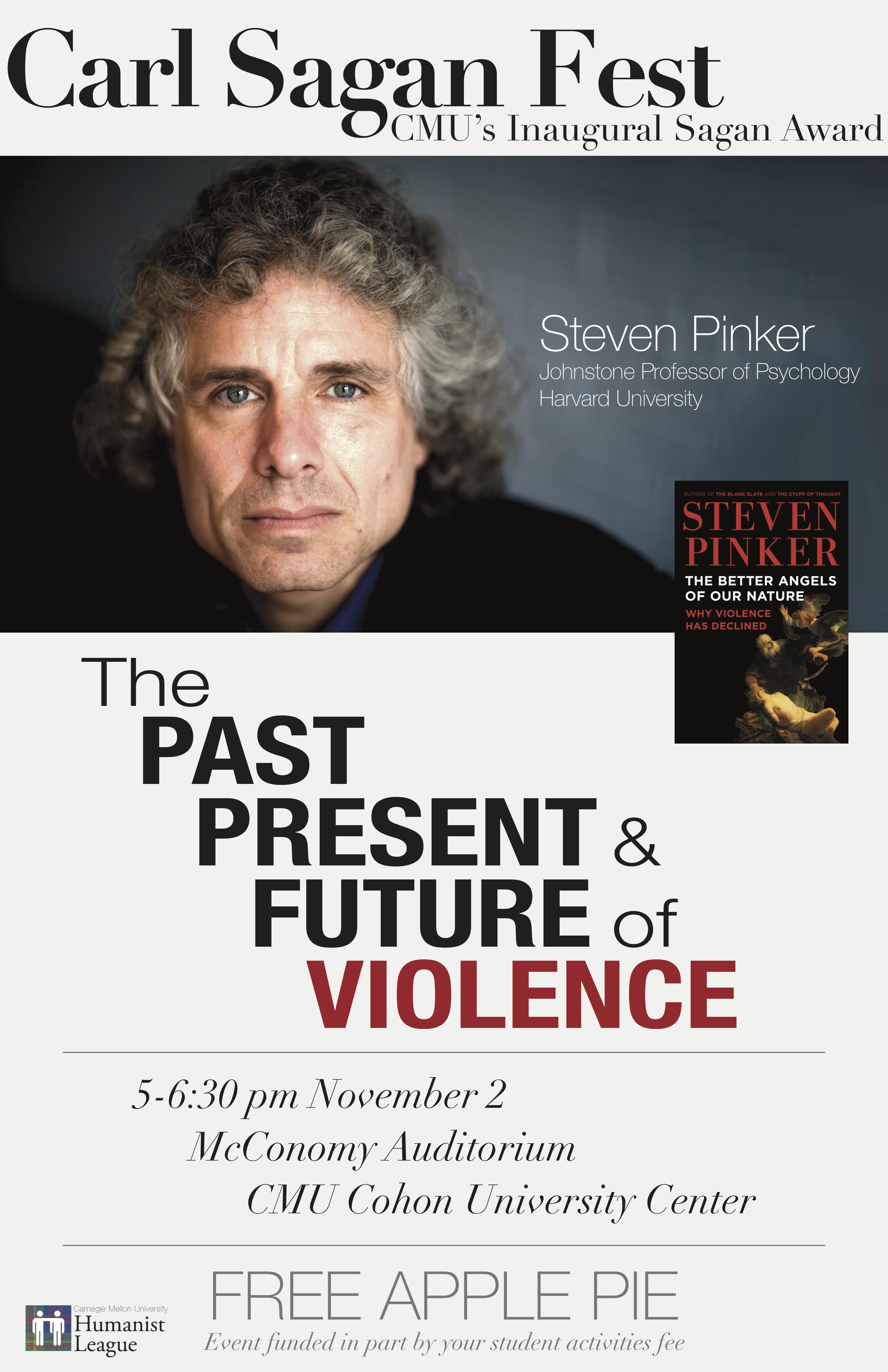 Carl Sagan Fest, featuring Steven Pinker Poster