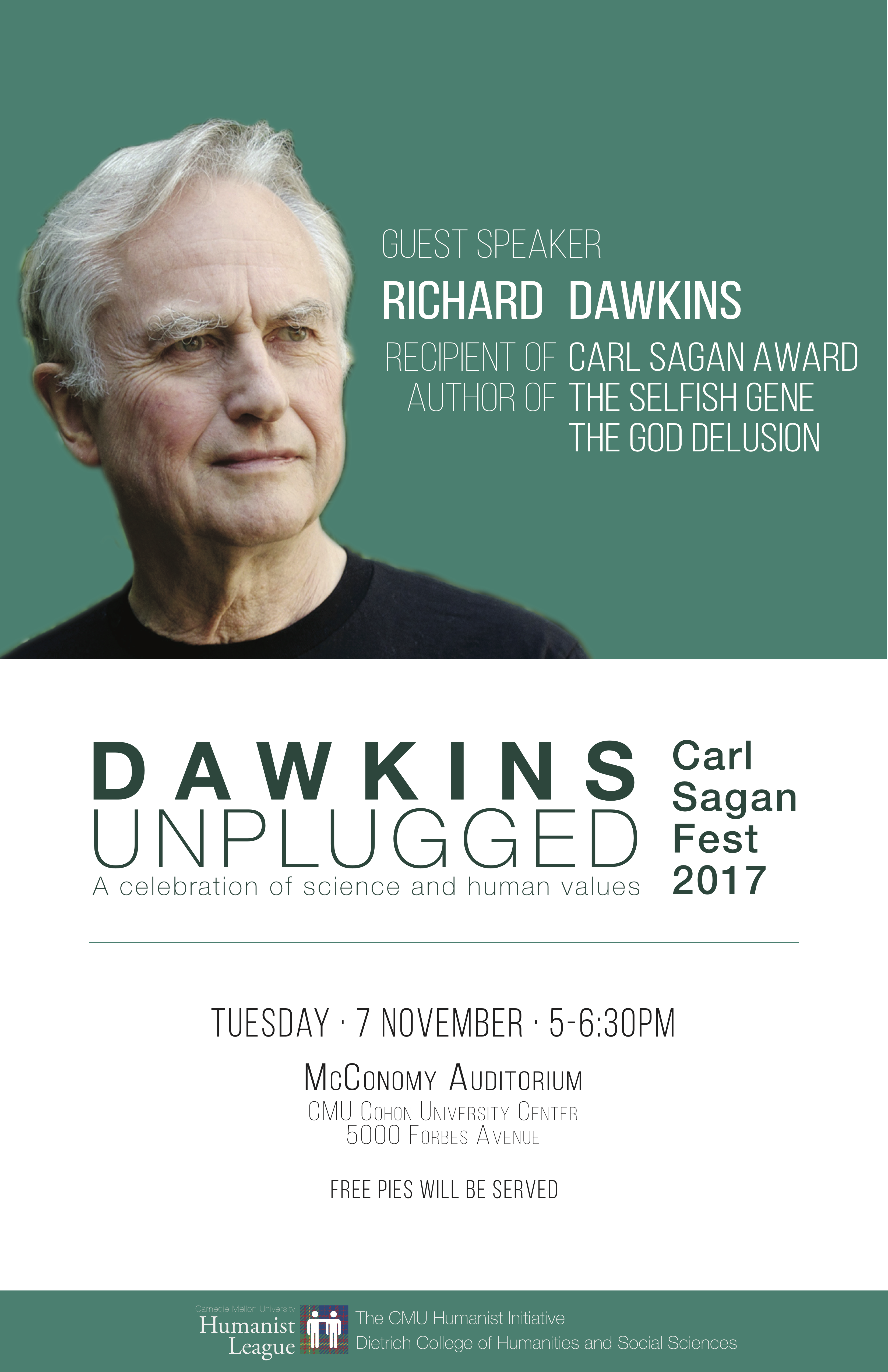 Carl Sagan Fest, featuring Richard Dawkins Poster