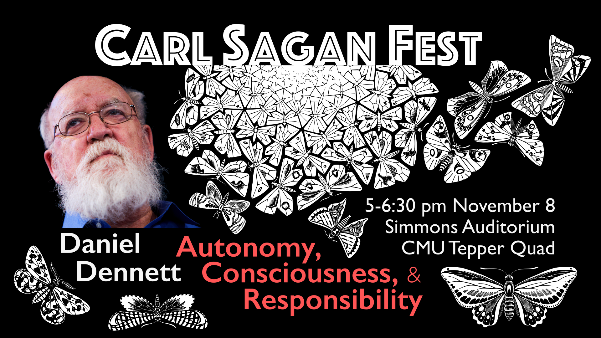 Carl Sagan Fest, featuring Daniel Dennett Banner