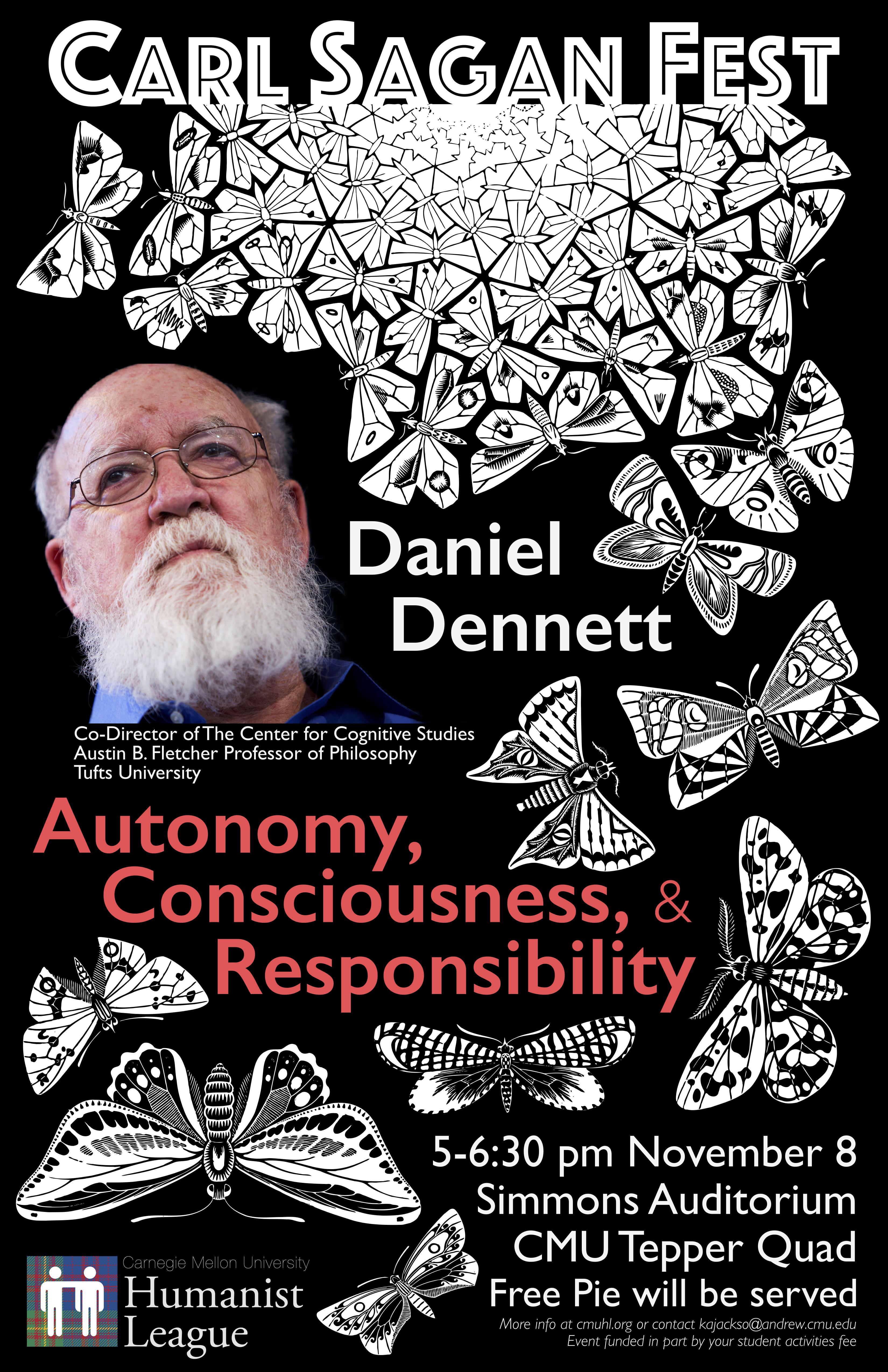 Carl Sagan Fest, featuring Daniel Dennett Poster